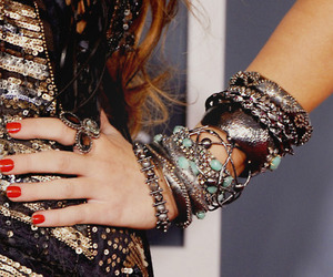 fashion, bracelet, and miley cyrus image
