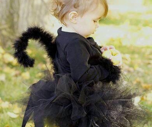 baby, cat, and black image