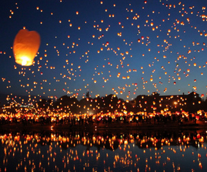 light, sky, and lantern image