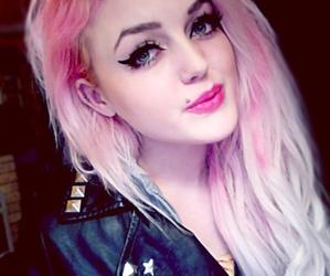 pink hair, hair, and eyes image