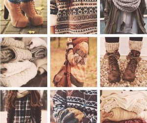 autumn, boots, and scarves image