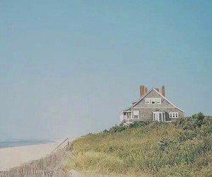 beach, grunge, and house image