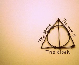 harry potter, deathly hallows, and wand image