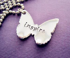 butterfly, inspire, and necklace image