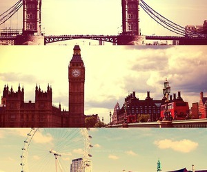 Big Ben, city, and Collage image