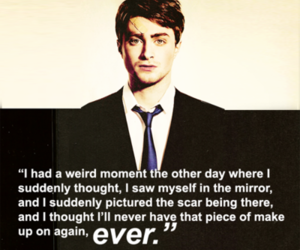 harry potter, daniel radcliffe, and scar image
