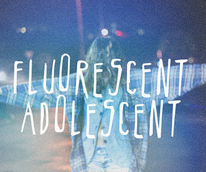 arctic monkeys, fluorescent adolescent, and adolescent image