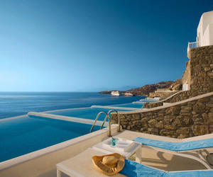 Greece, blue, and pool image