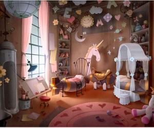 art, unicorn, and cartoon image