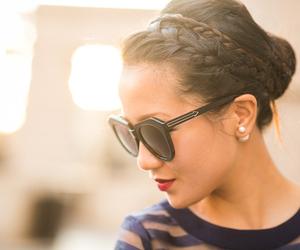 braid, hair, and sunglasses image
