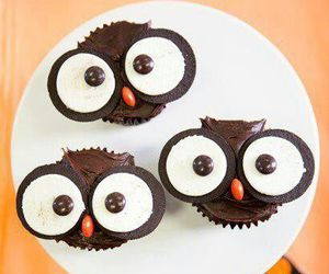 owl, cupcake, and food image