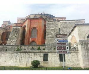 meral meri and hagia sophia mosque image