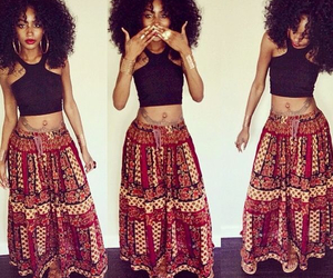 Afro, beautiful, and fashion image