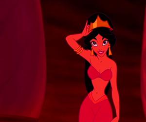 aladdin, jasmine, and Queen image