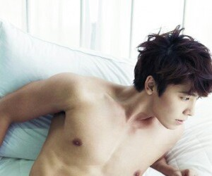 bed, sleep, and donghae image