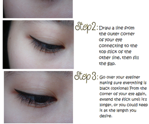 cat eye liner image