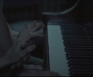 hands, piano, and couple image