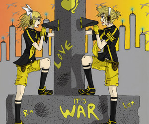 vocaloid, len, and rin image