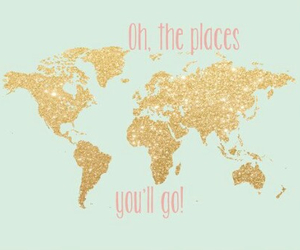 glitter, quote, and travel image