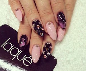 nails, pink, and laque image
