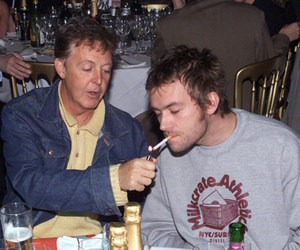 Paul McCartney, damon albarn, and blur image