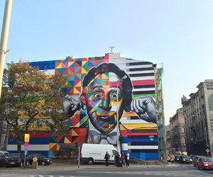 graffiti, lodz, and mural image
