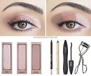 Nude, eyes, and eyeshadow image