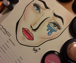 mac, makeup, and facechart image
