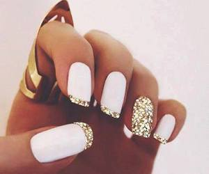 nail, summer, and white image
