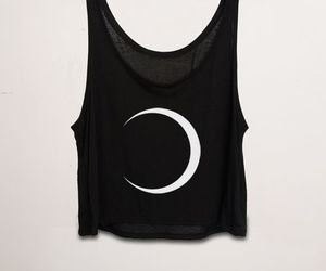 moon, fashion, and black image