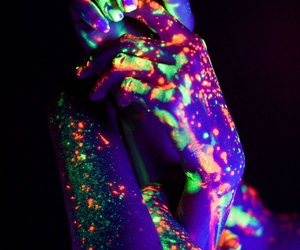 neon, hands, and light image