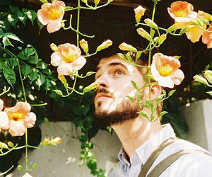 flowers and guy image