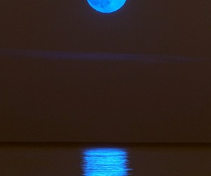 awesome, moon, and sea image