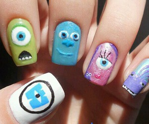 monsters inc and nails image