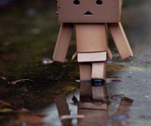 danbo, rain, and sad image