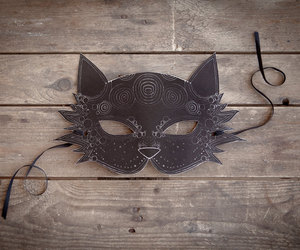 cat, mask, and Halloween image