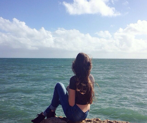 beach, sea, and indie image