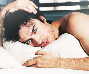 blue eyes, damon salvatore, and ian somerhalder image