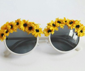 sunglasses and flowers image