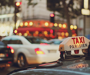 car, light, and taxi image
