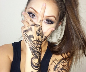 girl, tattoo, and beauty image