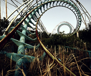 abandoned, Roller Coaster, and fun image
