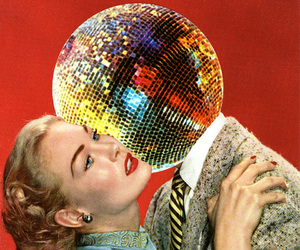 Collage, disco, and vintage image