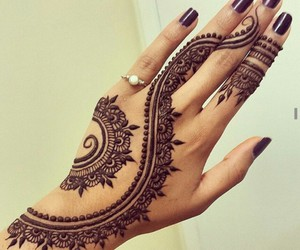 beauty, henna, and ring image