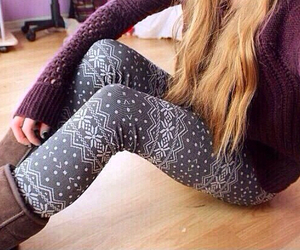 winter, leggings, and sweater image