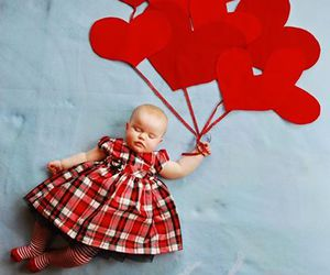 baby, cute, and red image