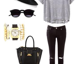black & white, fashion, and girl image