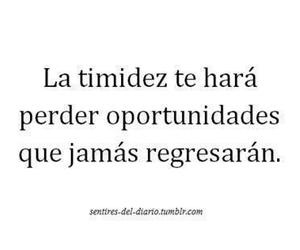 timidez, oportunidades, and frases image