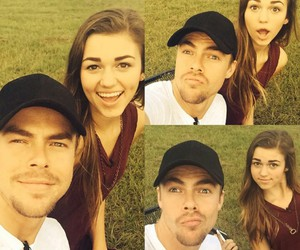 dancing with the stars, sadie robertson, and derek hough image
