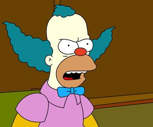 Krusty the Clown, simpsons, and the simpsons image